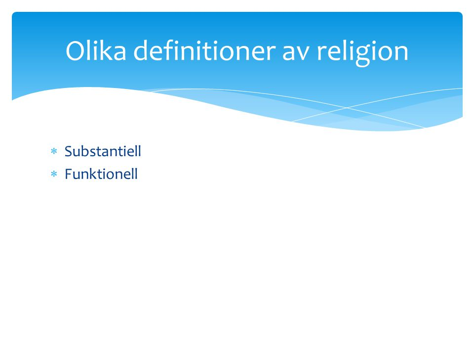 Olika definitioner av religion