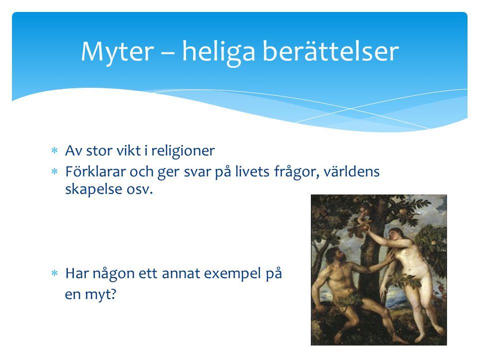Myter – heliga berättelser