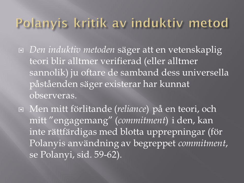 Polanyis kritik av induktiv metod