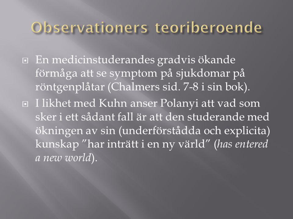Observationers teoriberoende