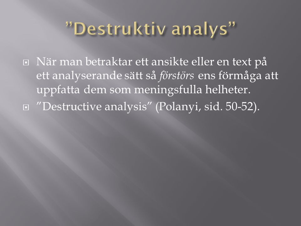 Destruktiv analys