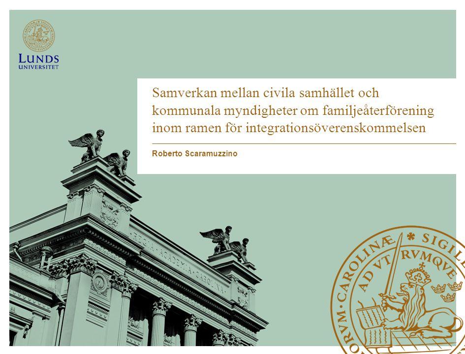 Samverkan mellan civila samhället och kommunala myndigheter om familjeåterförening inom ramen för integrationsöverenskommelsen
