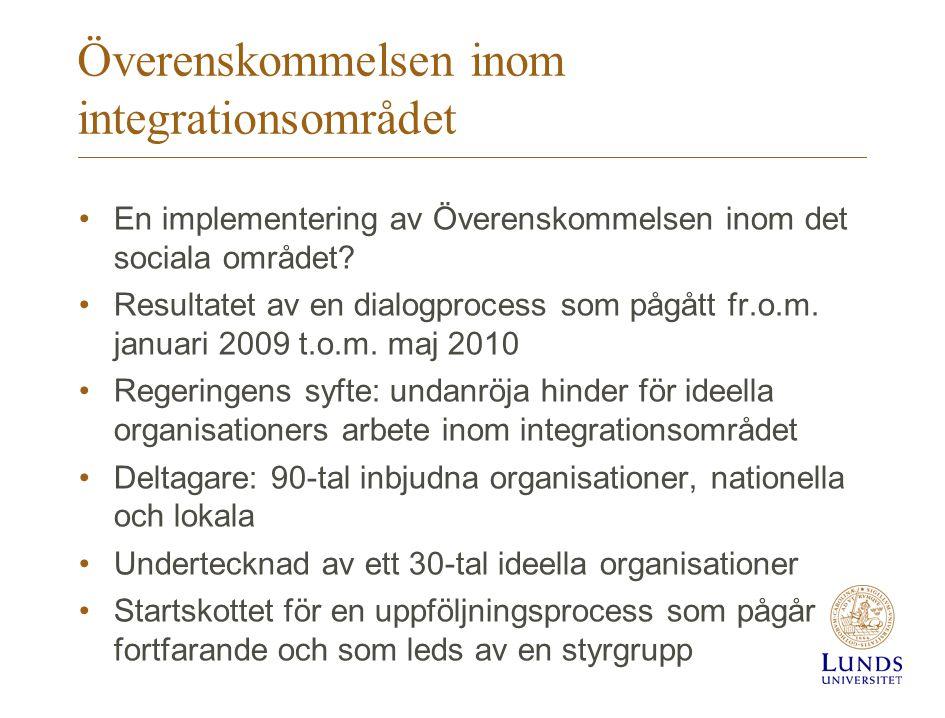 Överenskommelsen inom integrationsområdet