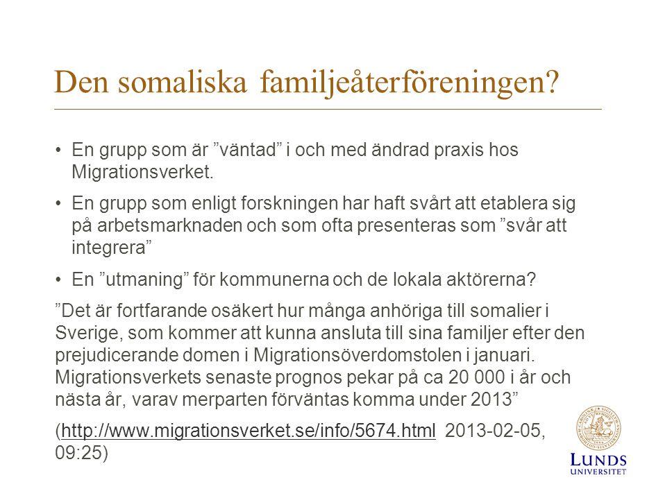 Den somaliska familjeåterföreningen