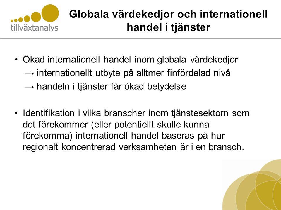Globala värdekedjor och internationell handel i tjänster