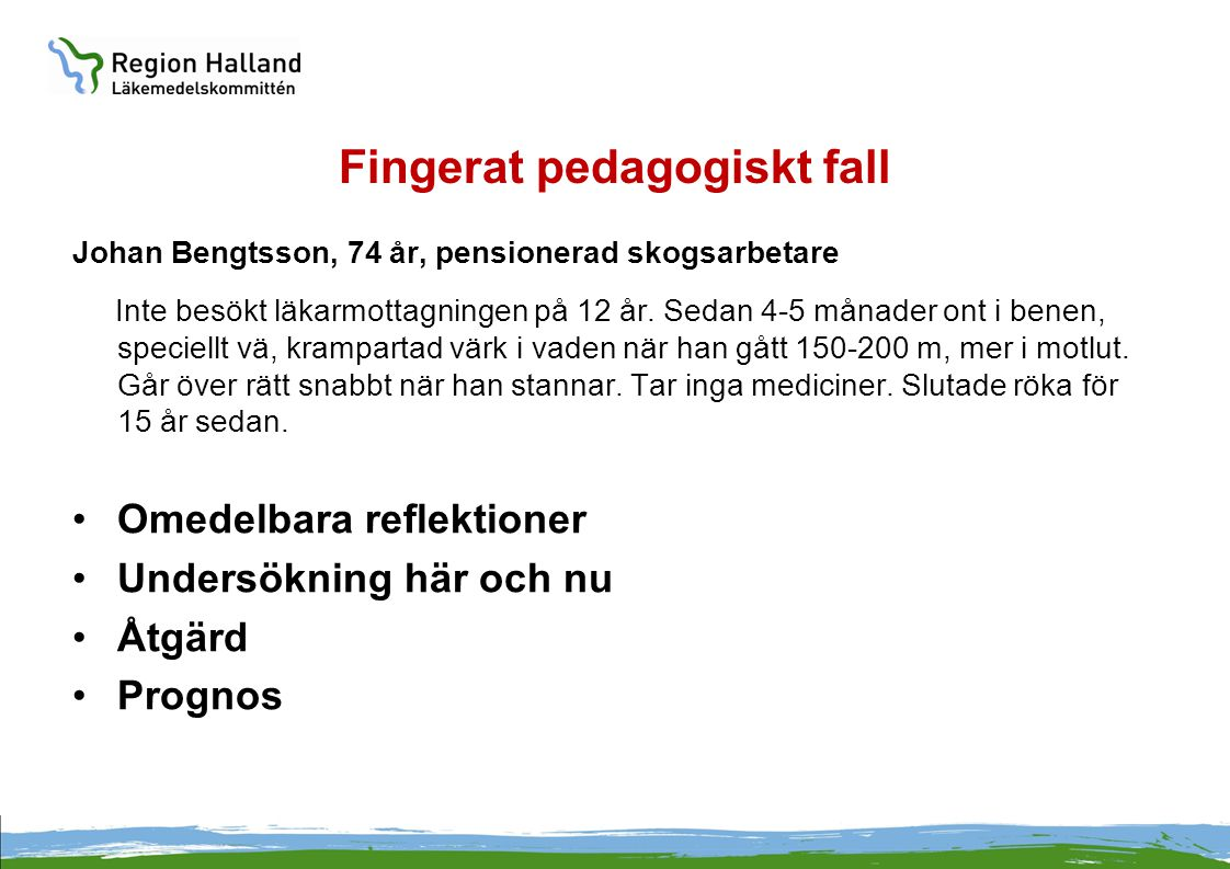 Fingerat pedagogiskt fall