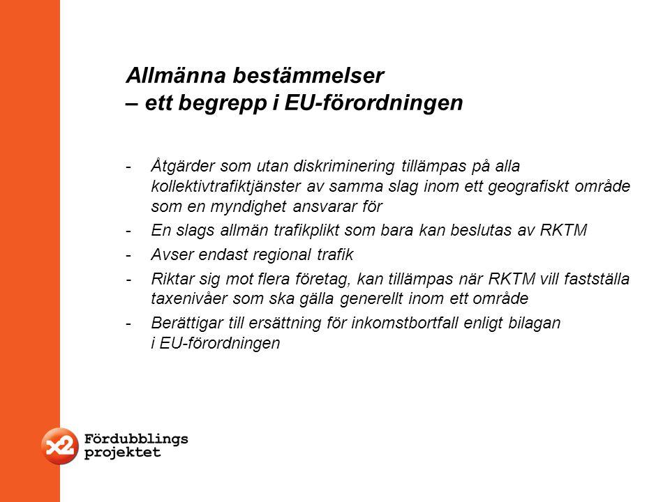 Allmänna bestämmelser – ett begrepp i EU-förordningen