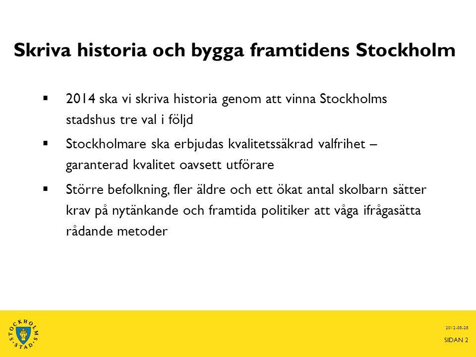Skriva historia och bygga framtidens Stockholm