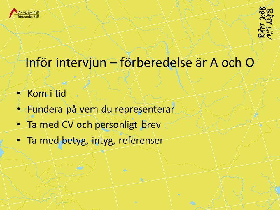 Inför intervjun – förberedelse är A och O