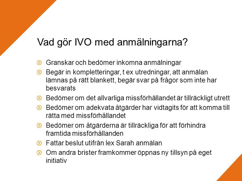 Vad gör IVO med anmälningarna