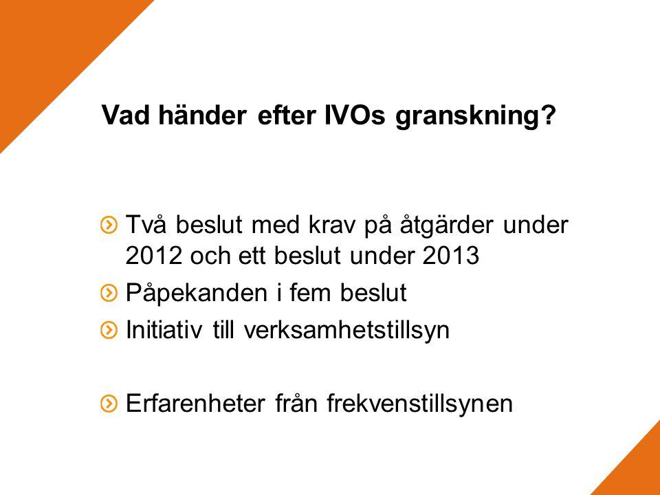 Vad händer efter IVOs granskning