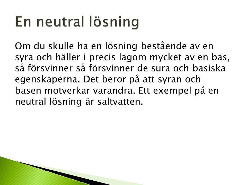 En neutral lösning