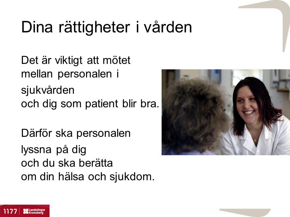 Dina rättigheter i vården