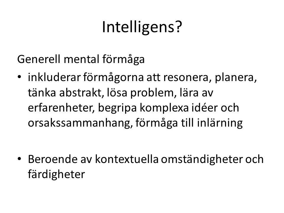 Intelligens Generell mental förmåga