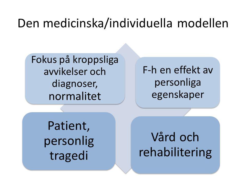 Den medicinska/individuella modellen