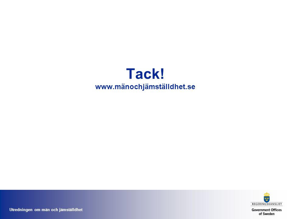 Tack! www.mänochjämställdhet.se