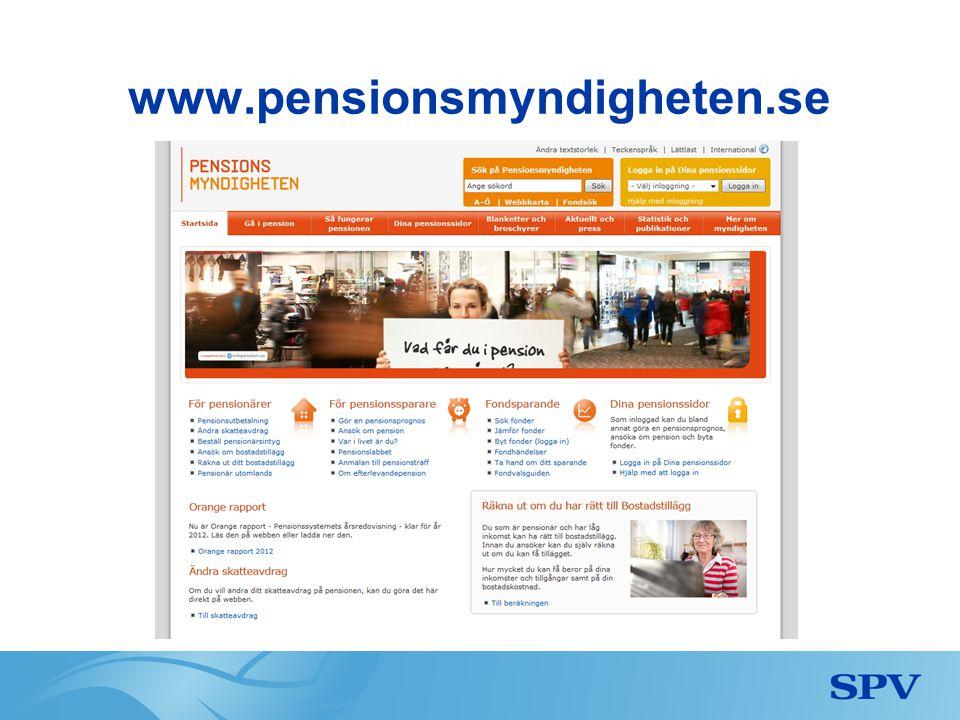www.pensionsmyndigheten.se www.pensionsmyndigheten.se
