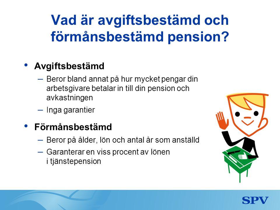 Vad är avgiftsbestämd och förmånsbestämd pension