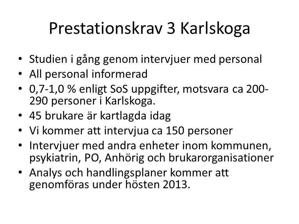 Prestationskrav 3 Karlskoga