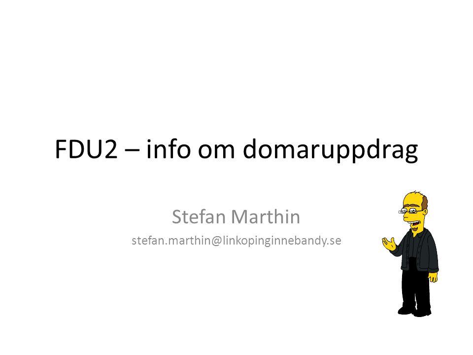 FDU2 – info om domaruppdrag