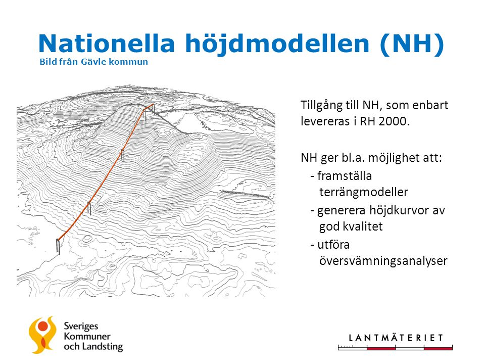 Nationella höjdmodellen (NH) Bild från Gävle kommun