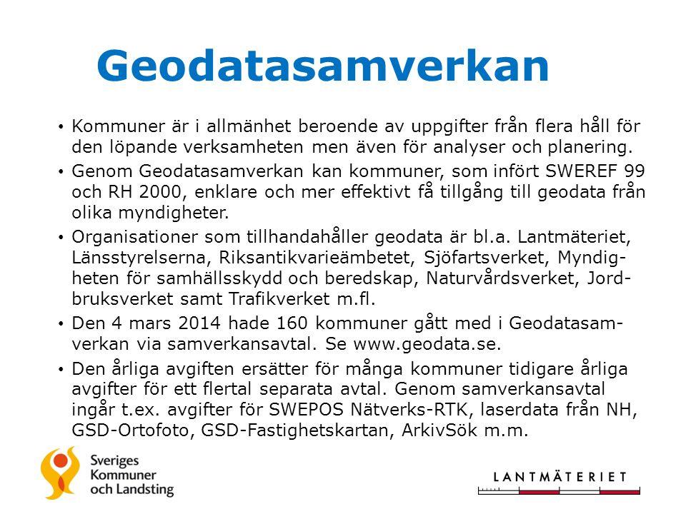 Geodatasamverkan Kommuner är i allmänhet beroende av uppgifter från flera håll för den löpande verksamheten men även för analyser och planering.