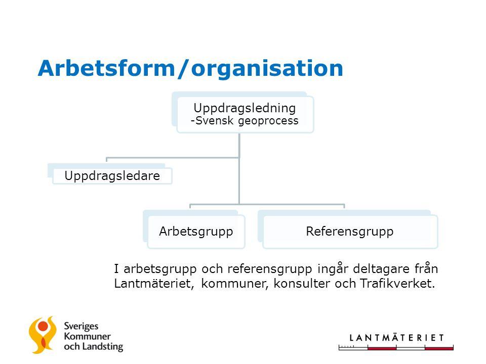Arbetsform/organisation