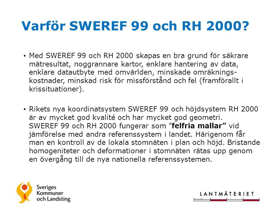 Varför SWEREF 99 och RH 2000