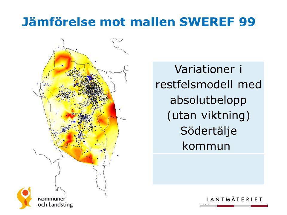Jämförelse mot mallen SWEREF 99