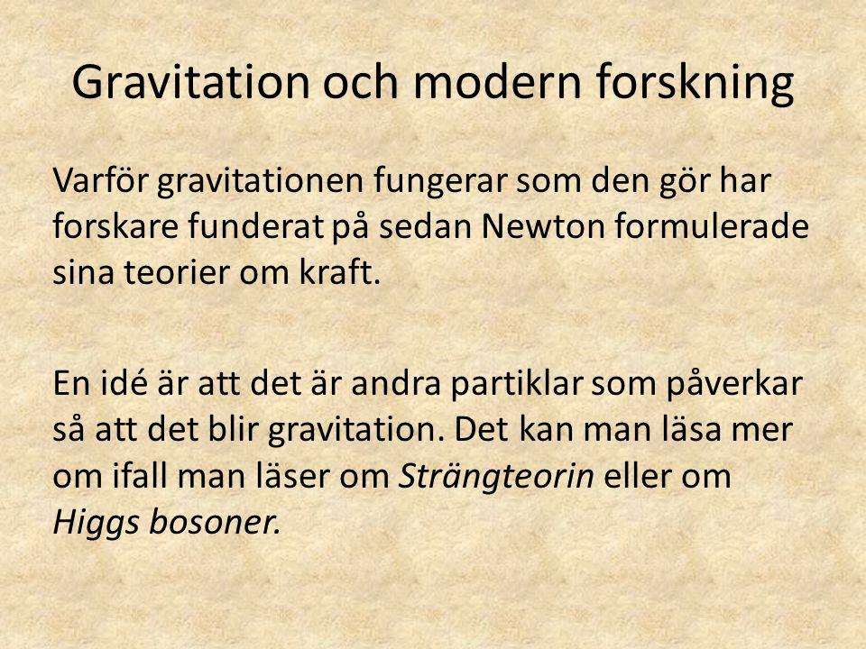 Gravitation och modern forskning