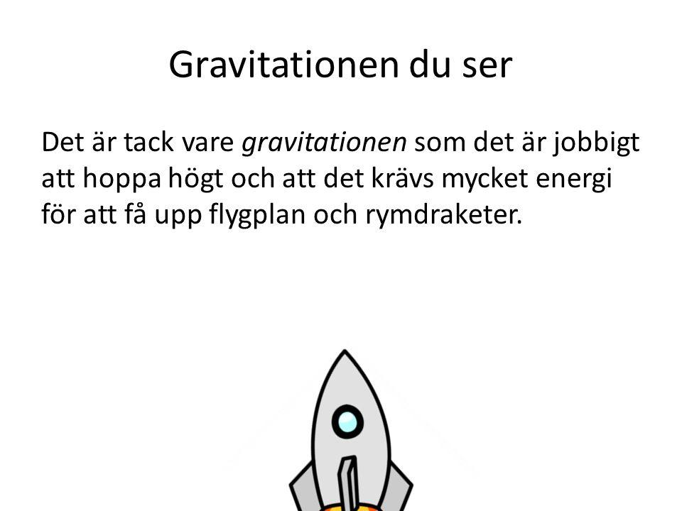 Gravitationen du ser