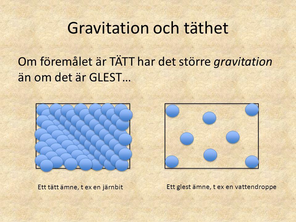 Gravitation och täthet