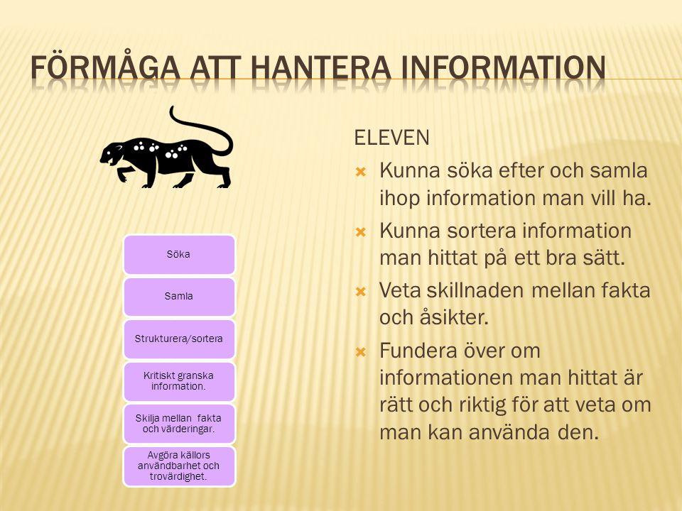 Förmåga att hantera information