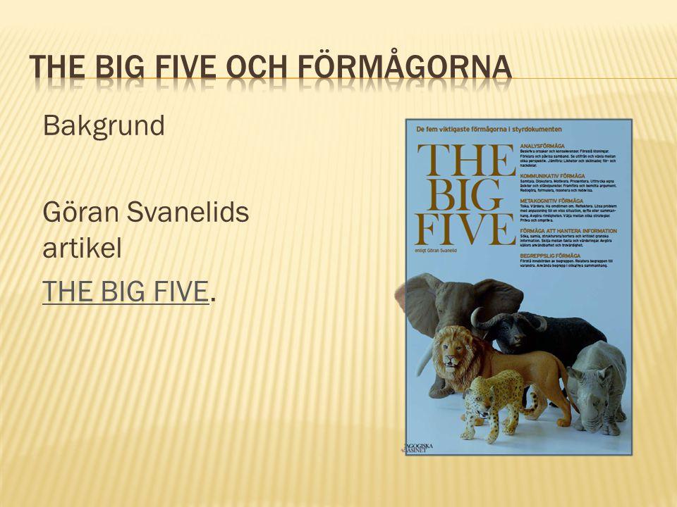The big five och förmågorna
