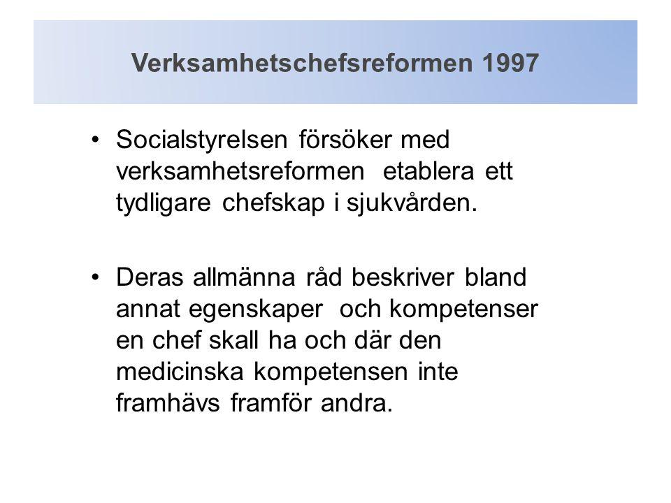 Verksamhetschefsreformen 1997