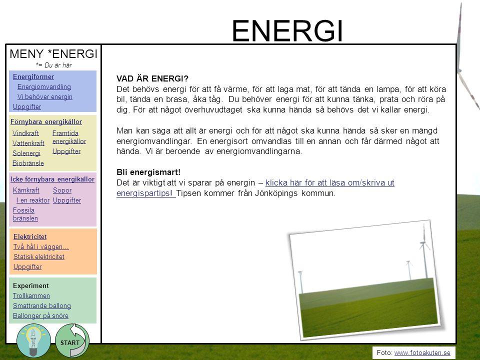 ENERGI MENY *ENERGI VAD ÄR ENERGI