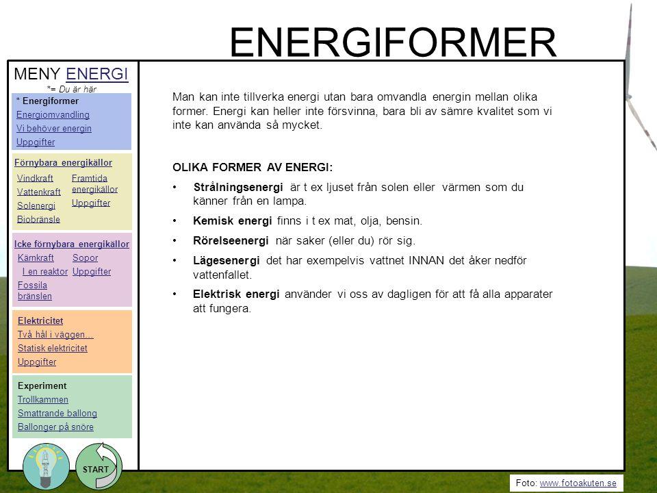 ENERGIFORMER MENY ENERGI