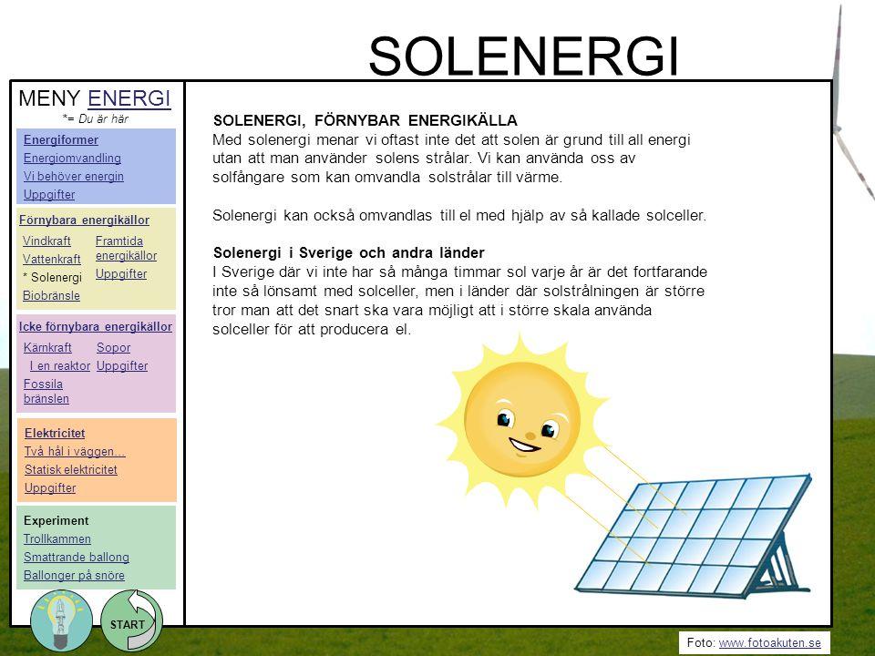 SOLENERGI MENY ENERGI SOLENERGI, FÖRNYBAR ENERGIKÄLLA