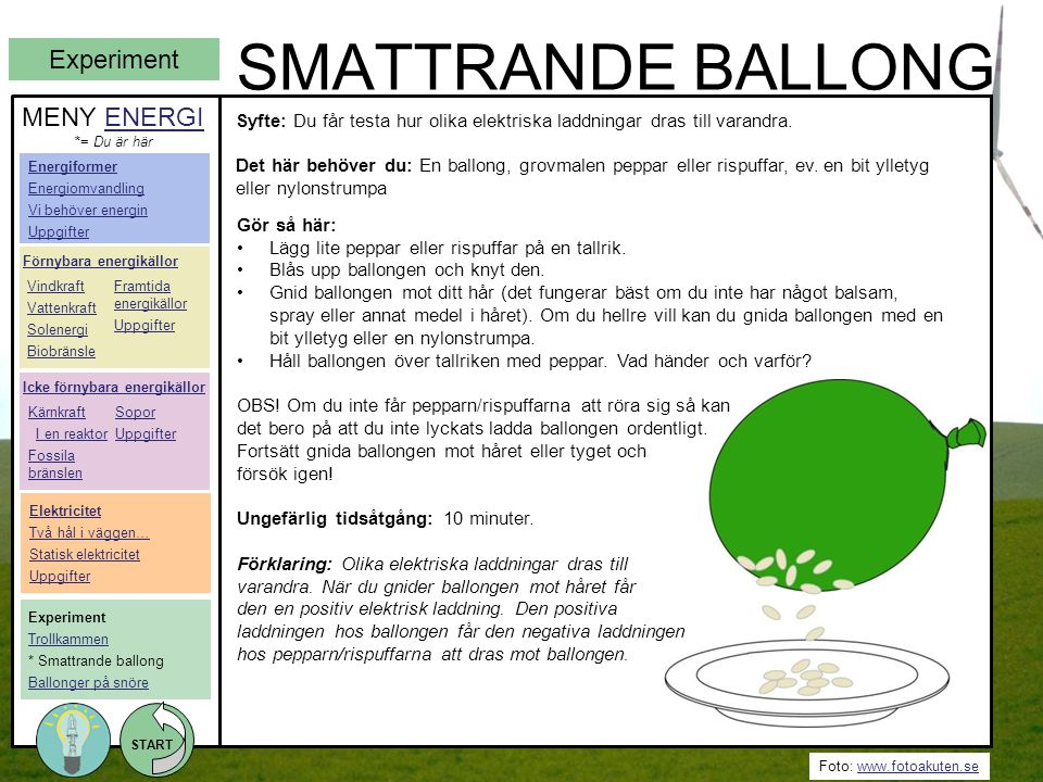 SMATTRANDE BALLONG Experiment MENY ENERGI