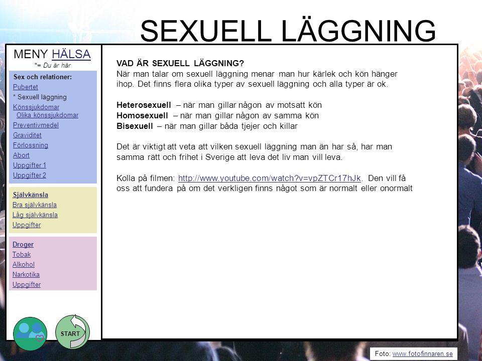 SEXUELL LÄGGNING MENY HÄLSA VAD ÄR SEXUELL LÄGGNING