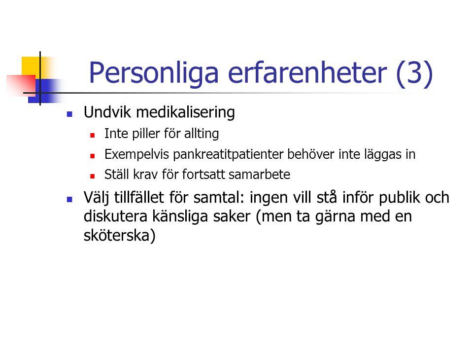 Personliga erfarenheter (3)