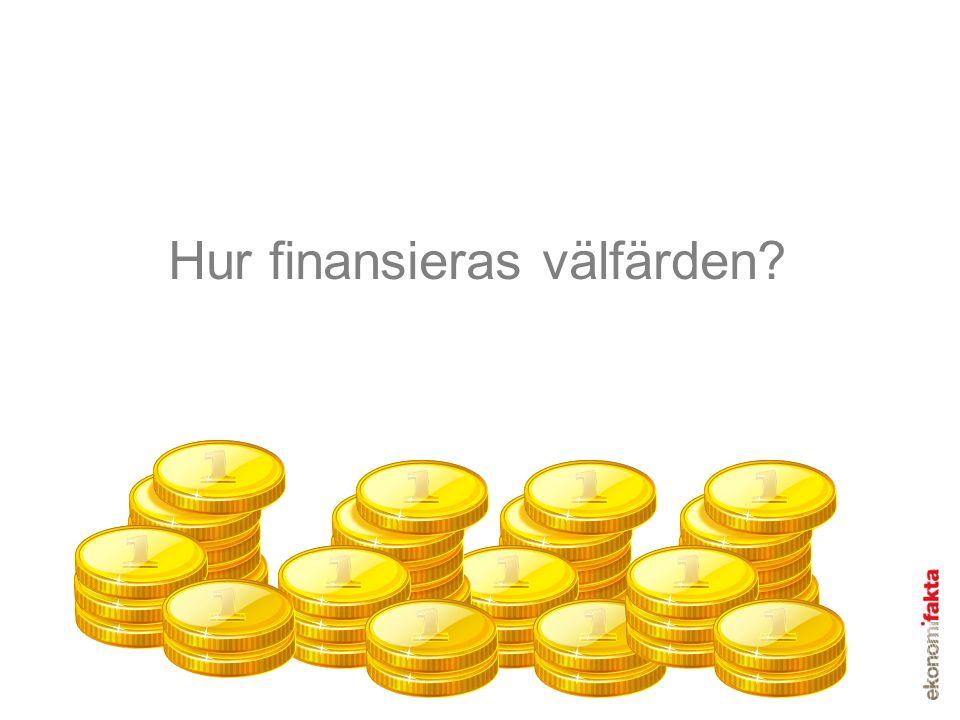 Hur finansieras välfärden