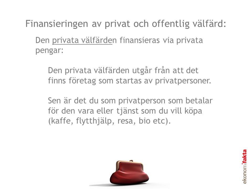 Finansieringen av privat och offentlig välfärd:
