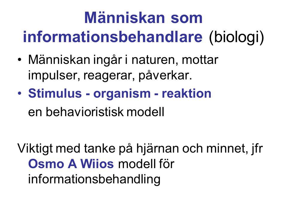 Människan som informationsbehandlare (biologi)