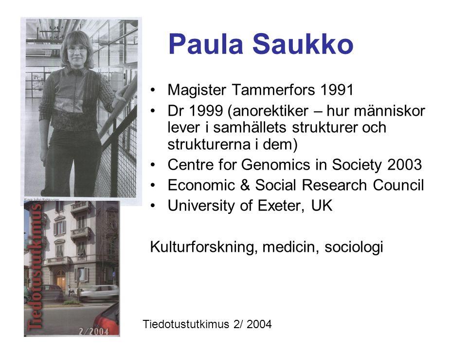 Paula Saukko Magister Tammerfors 1991