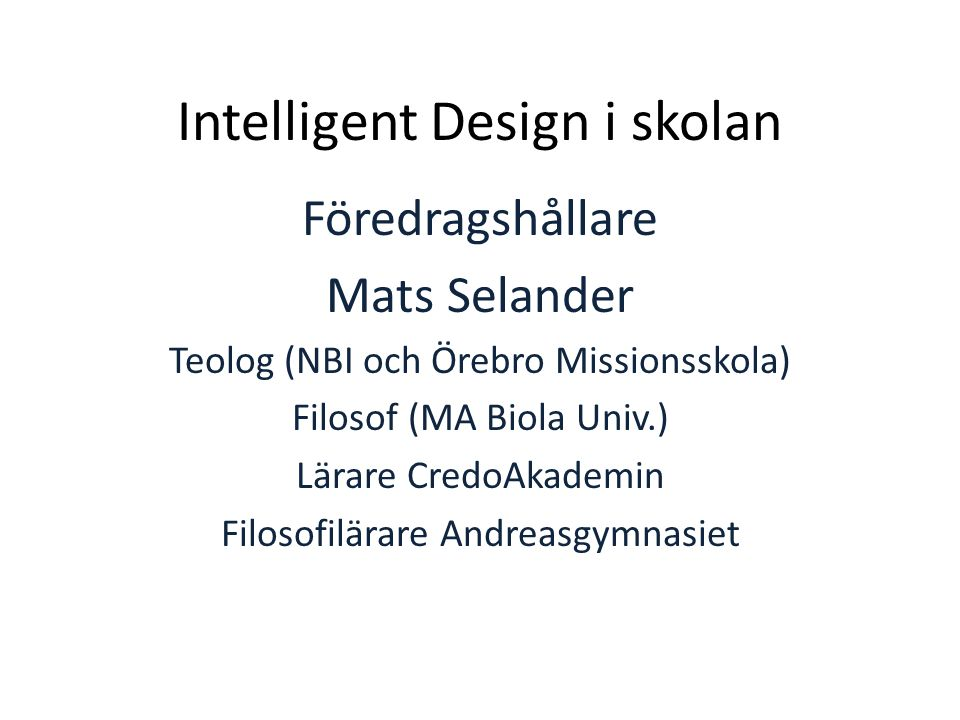 Intelligent Design i skolan