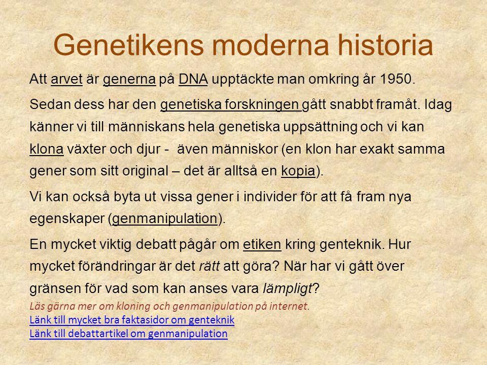 Genetikens moderna historia