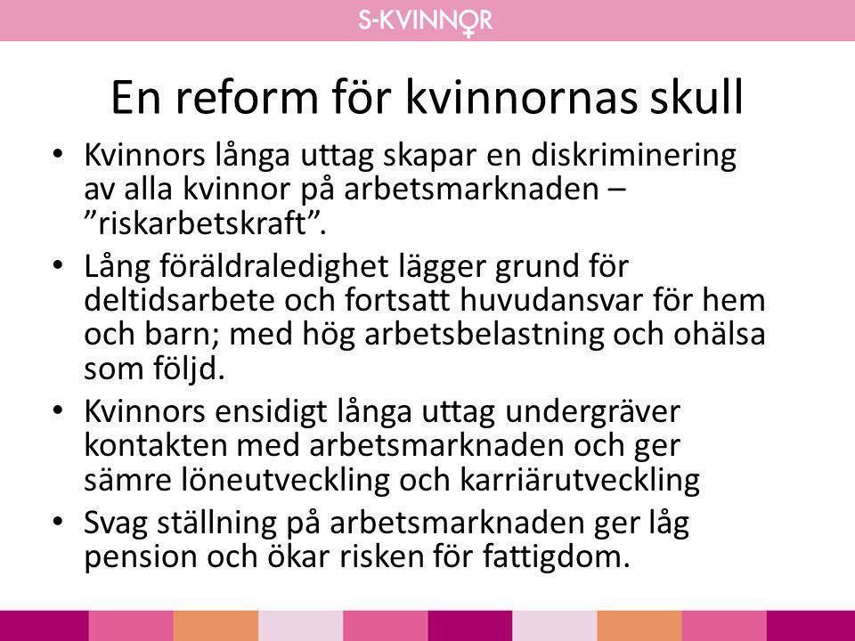 En reform för kvinnornas skull