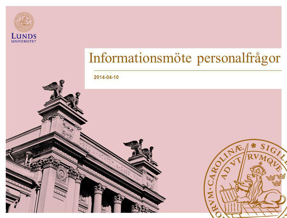 Informationsmöte personalfrågor