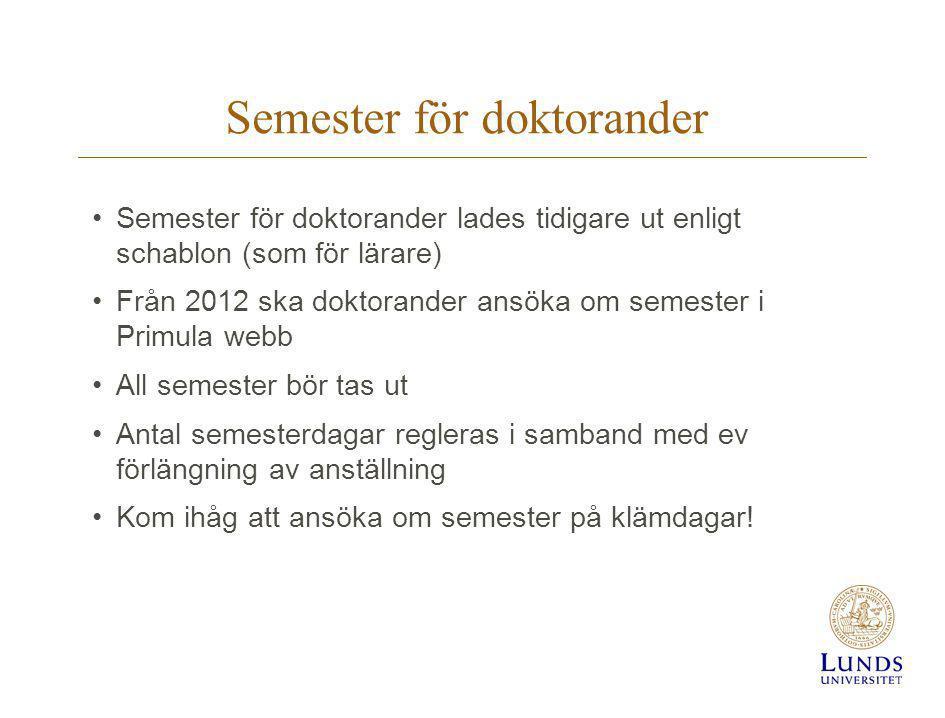 Semester för doktorander